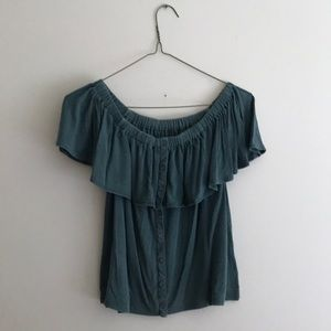 American Eagle off the shoulder blouse